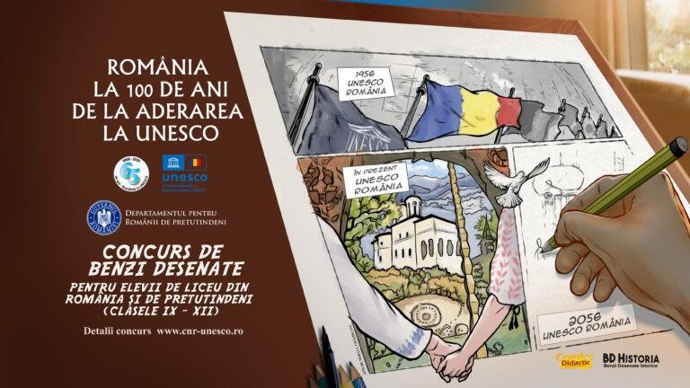 """Concurs de benzi desenate pentru liceenii talentați – """"România și UNESCO, arc peste timp"""""""