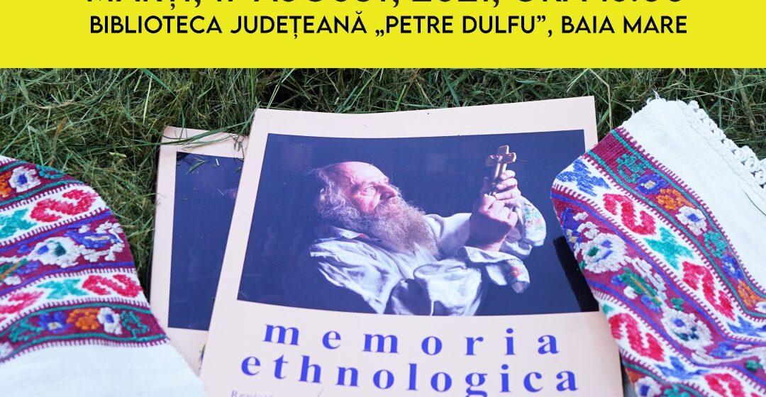 Lansarea unui nou număr al revistei Memoria Ethnologica