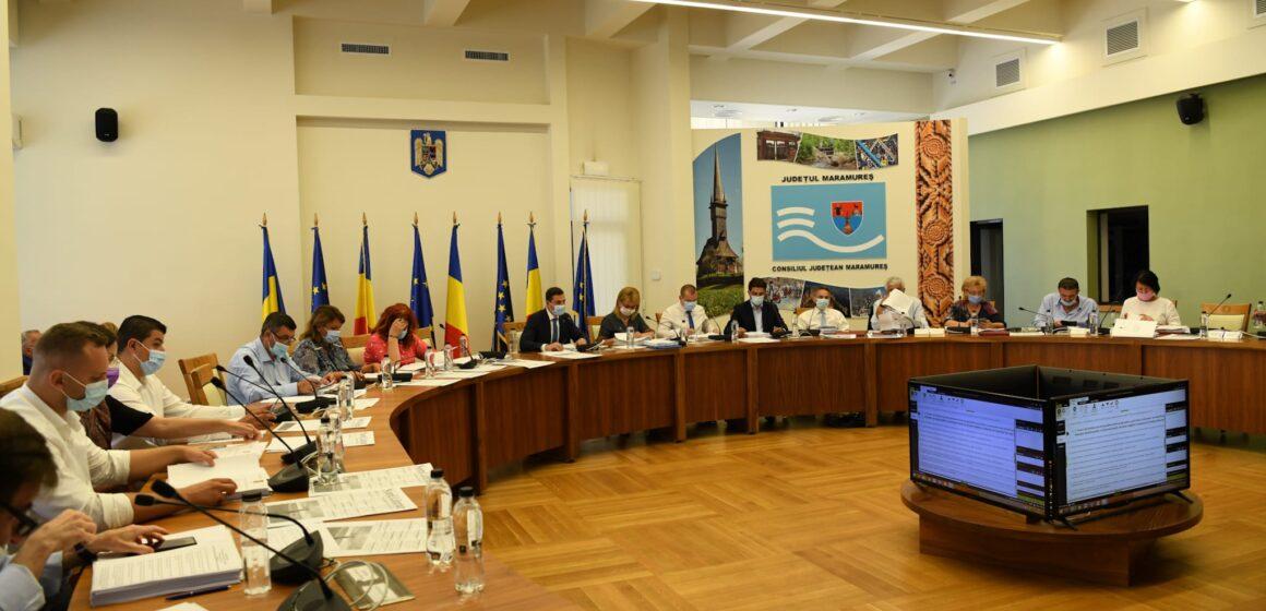 Proiectul ordinii de zi a ședinței ordinare a Consiliului Județean Maramureș din 30 august cuprinde 15 proiecte de hotărâre