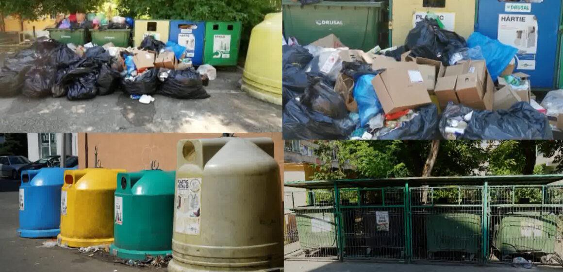 Video | Containerele cu deșeuri azi, 15 august în Baia Mare- în unele locuri da, în altele nu