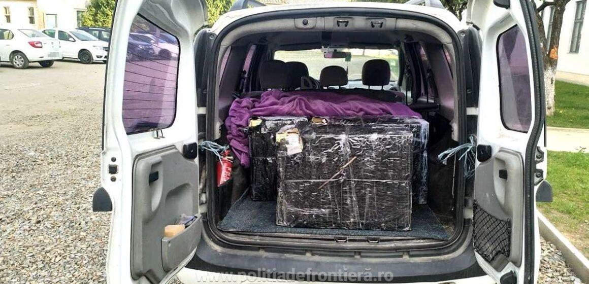 Avea în mașină 3.000 de pachete cu țigări de contrabandă